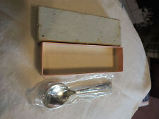 Collectible Silver plate Small Spoon Signed ONEIDA Original Plastic & Box 4 1/2