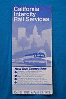 Amtrak - California Intercity Rail Timetable - Oct 31, 1982 to Apr 23, 1983