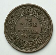 Dated : 1934 - India - 1/2 Pice - Half Pice Coin - King George V