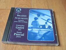 François Gnéri, Denis Pascal - Brahms & Schumann : Sonatas for viola & piano -CD