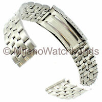 18mm Morellato Silver Tone Stainless Steel Accented Semi Solid Link Watch Band