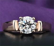 Rose Gold Plated Engagement Crystal Ring for Women