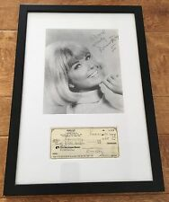 Doris Day Signed Canceled Check Professionally Framed, Matted & Mounted w/ 8x10