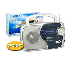AM FM Portable radio speaker earphone plug jack on Battery or mains power AC DC