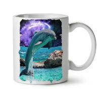 Ocean Rock Dolphin NEW White Tea Coffee Mug 11 oz | Wellcoda