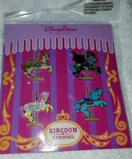 Disney Pins Kingdom Carousel Pin Booster Trading Set NEW FREE SHIP