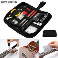 Full Set 14Pcs Guitar Care Tool Kit Repair Maintenance Tools Guitar Tool Kit AU