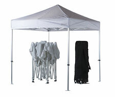 3m x 3m White Poptents Heavy Duty Pop up Marquee Market Tent / Stall / Gazebo