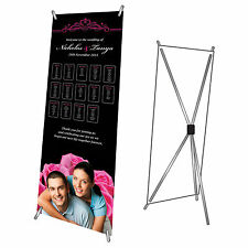 Personalised Favours Welcome Table Name Plan Banner - Sign for Wedding Reception