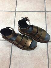Dr. Martens Copper Spectra Patent Leather Clarissa Sandals Women's US Size 9