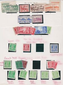 CHANNEL ISLANDS JERSEY GUERNSEY STAMPS OCCUPATION WARTIME ISSUES ON ALBUM PAGE
