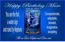 PERSONALISED ZODIAC PISCES STAR SIGN BIRTHDAY YANKEE CANDLE JAR LABEL
