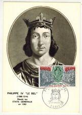 1968//FDC CARTE 1er JOUR!!**PHILIPPE IV LE BEL-OBL.PARIS **TIMBRE.1577