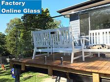 800 x 970 x 12mm Glass Balustrade Frameless Clear Toughened Safety Deck DIY