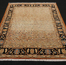 Orient Teppich Ziegler 210 x 186 cm Gabbeh Streifen Muster Modern Carpet Tappeto