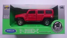 WELLY HUMMER H3 RED 1:34 DIE CAST METAL MODEL NEW IN BOX