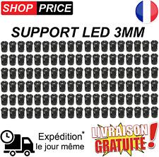 Lot 50 Supports pour LED 3mm (clip de fixation - douille)