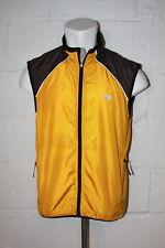 EUC The North Face Yellow Full Zip Windbreaker Vest Jacket Sz M Medium