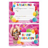 """Einladungen (8 Stück) """"Hase"""" zum Geburtstag Einladungskarten Karten"""