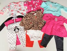 NEW 11 PC. LOT OF NEWBORN BABY GIRL CLOTHES 0-6 MONTHS NWT $146