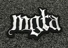 MGLA BLACK METAL ROCK MUSIC POP Embroidered Patch Iron Sew Logo Emblem Hardcore