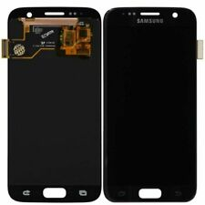 Samsung Galaxy S7 G930A G930V LCD Digitizer Screen w/ Logo Black Onyx