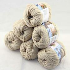 SALE Special Thick Chunky 100% Cotton Shawl Scarf Hand Knit Yarn 6 BallsX50gr 10