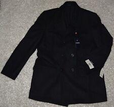 New Mens Chaps Wool Dress Coat 44 Long Charcoal Gray Lined Winter Jacket 44L NWT