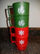 VTG Tupperware 1312 Stackable Holiday Mugs (4) EXC~ Fast  Shipping!