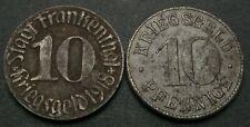 GERMANY 10 Pfennig ND/1918 - Iron - Kriegsgeld - 2 Coins. - 1178