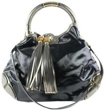 Gucci Indy Babouska Hobo 2way Black Patent Leather Messenger Bag 9gz0918