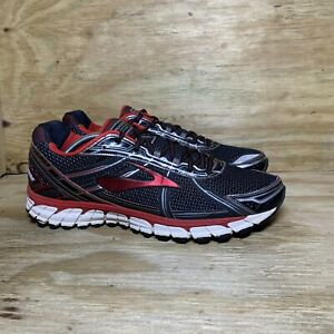 Brooks Adrenaline GTS 15 Men's Running Shoes Size 13 D Black Red Silver Athletic