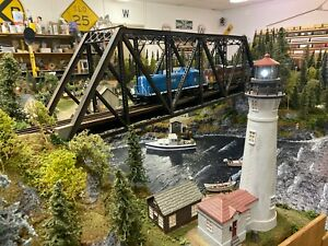 O SCALE TRAIN LAYOUT - PROFESSIONAL REALISTIC STYLE - COMPLETE - MODULAR