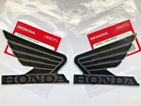Honda  Wing Fuel Tank Decal Wings Sticker 2 x 95mm BLACK & GREY 100% GENUINE