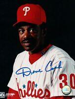 Dave Cash Signed 8X10 Photo Autograph Philadelphia Phillies One Line Auto w/COA