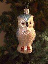 *Snowy Owl* [16005] Old World Christmas Ornament - NEW