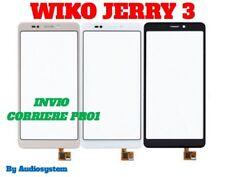 VETRO +TOUCH SCREEN WIKO per JERRY 3 W_K300 DIGITIZER MOBILE NERO GOLD BIANCO