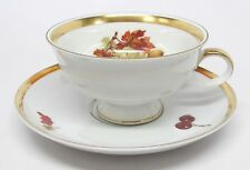 Jaeger - Harvest - Grapes & Nuts Cup & Saucer - Golden Crown E&R 1886 - C As Is