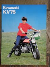 Kawasaki KV75-A7  Sales Brochure, 1977 Original NOS