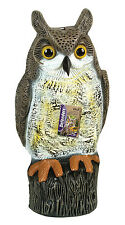"Stv966 17"" Life Like Owl Static Standing Roosting Bird Repeller Cat Mouse Pest"