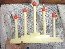 Vintage 5 Tier Christmas Candolier Candelabra Window Electric Candle Lights GEM