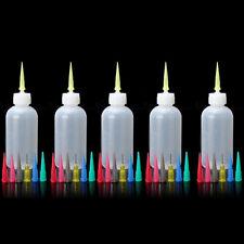 5x Plastik Squeeze-Flasche Squirt Soßenspender Für Gewürze Ketchup Öl