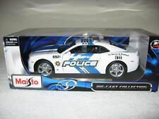 2010 CHEVROLET CAMARO SS  MAISTO POLICE 1:18 SCALE OPENING HOOD DOORS & TRUNK