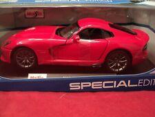 Maisto 2013 Dodge SRT Viper GTS 1/18 scale NIB 2019 release red exterior