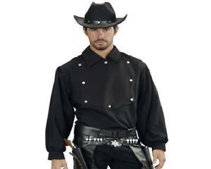 John Wayne Hemd Herren Westernhemd Cowboyhemd schwarz Gr. M/L und XL