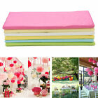 20 Sheets Tissue Paper Flower Wrapping Kids DIY Crafts Materials 6 Colors HICA