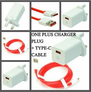 ORIGINAL OnePlus 6T 6 5T 5 3T Fast Charger Adapter DASH Plug - USB Type C Cable
