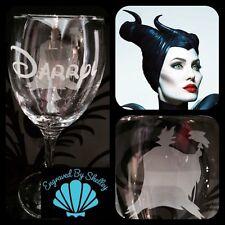 Personalised Disney Villain Maleficent Wine Glass Free Custom Name Engraving!