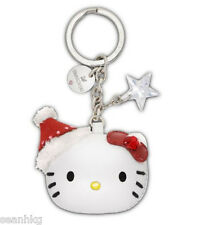 Swarovski Hello Kitty Holiday Key Ring, Star Christmas Santa Crystal MIB 1162835