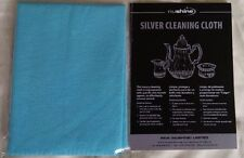 NUSHINE LARGE SILVER CLEANING CLOTH - REMOVES TARNISH AND POLISHES WITH EASE